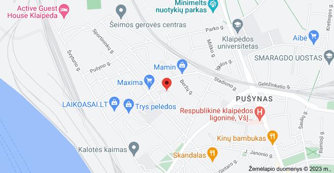 Viršutinė g. 21, Klaipėda 92258 žemėlapis