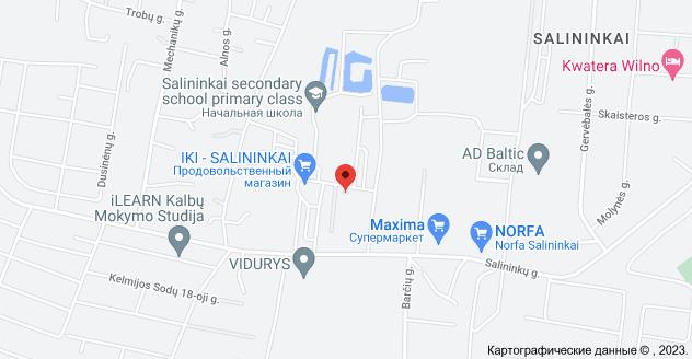 Kalviškių g. 1, Vilnius 02206: карта